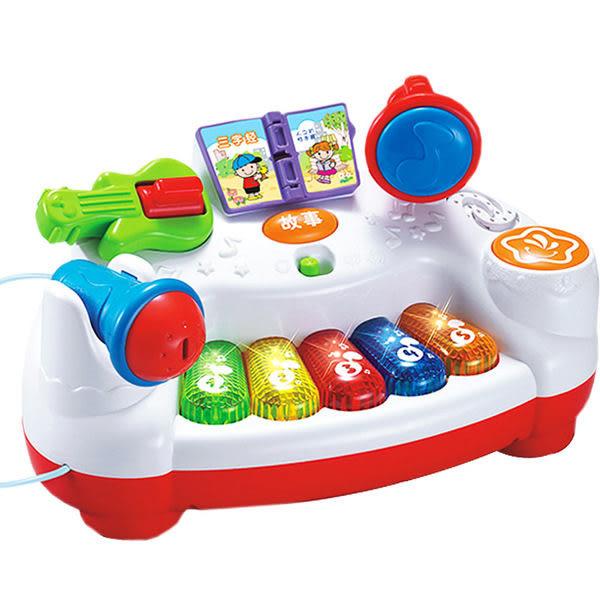 *粉粉寶貝玩具*歡樂學習琴 兒童故事琴 有燈光 音樂 麥克風 兒童玩具 幼教玩具