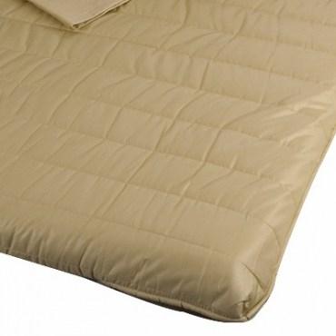 嚴選純棉絎縫記憶床墊四件式組合 卡其色