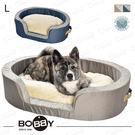 法國《BOBBY》和風睡窩 L  全床可拆洗 挺拔外框 中型犬 狗床 睡窩 黃金獵犬/哈士奇