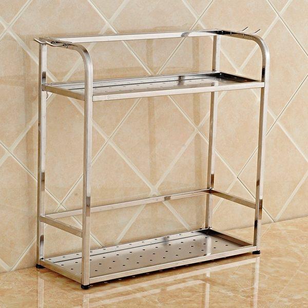 小熊居家廚房置物架 儲物架 304不銹鋼刀架 調味瓶收納架 家用廚具特價