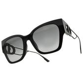 Dior 太陽眼鏡 30MONTAIGNE1 8071I (黑-漸層灰鏡片) 30 蒙田 經典款 墨鏡 # 金橘眼鏡