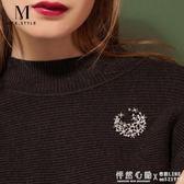 胸針高檔西裝女胸花配飾韓版奢華大氣復古小別針氣質徽章毛衣飾品 ◣怦然心動◥