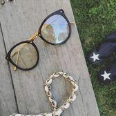 現貨-韓國ulzzang復古眼鏡框圓框小鉚釘眼鏡框配近視眼鏡架大臉韓版潮復古48