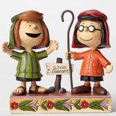 聖誕禮物《Enesco精品雕塑》SNOOPY瑪茜與佩蒂牧羊人慶典表演塑像-Pageant Players(Peanuts by Jim Shore)_EN86163
