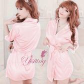 和服睡衣 經典浪漫!柔緞和服睡袍﹝粉紅﹞性感睡衣 女衣