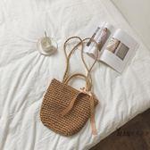 草編包 森女包夏季草編包度假風旅遊沙灘單肩手提草包編織包包女 全館免運