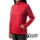PolarStar 女 立領拉鍊保暖衣『紅』P19266 戶外│休閒│登山│露營│排汗│機能│POLO衫