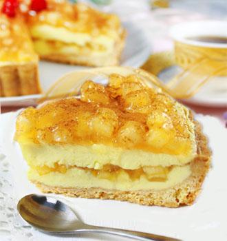 經典派-蘋果口味 (7吋) 愛家純素素糕 素食起司派 全素點心 慶祝蛋糕 VEGAN
