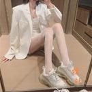 絲襪女性感蕾絲漁網襪子薄款防勾打底連褲襪【橘社小鎮】