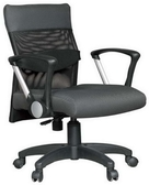 HP348-12 辦公椅/方塊布+黑網布/氣壓+後仰