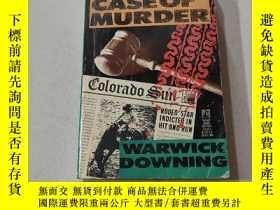 二手書博民逛書店A罕見CLEAR CASE OF MURDER:一起明顯的謀殺案(外文)Y212829