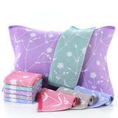 枕巾純棉紗布加厚加大柔軟全棉情侶親膚枕頭巾一對裝布藝枕巾  居家物語