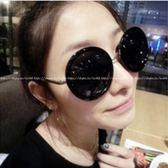 現貨-韓國ulzzang原宿復古墨鏡灰片復古大圓形太陽眼鏡女墨鏡明星款大框太子鏡潮男眼鏡35