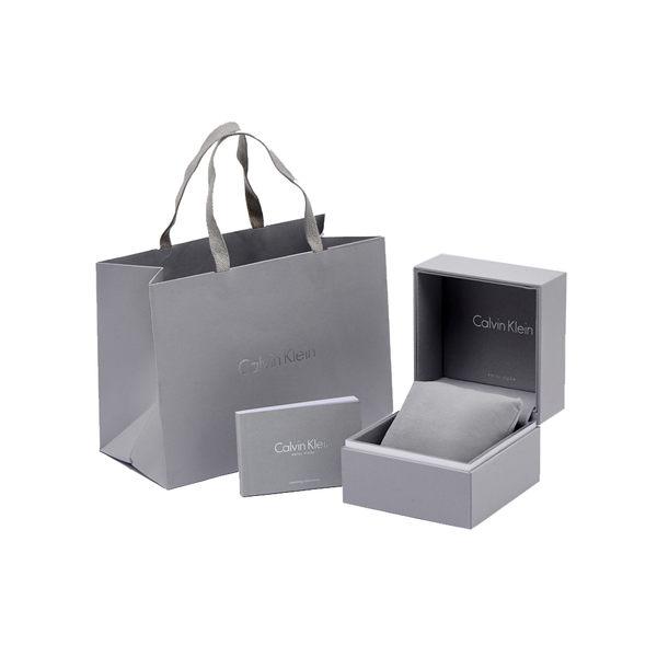 CK  Calvin Klein 高貴優雅簍空女性手錶(K3G23128)-鏡面X銀/34mm