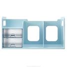 《享亮商城》BR-1387 薄荷藍色 超大型創新書架(附整理盒) Flying