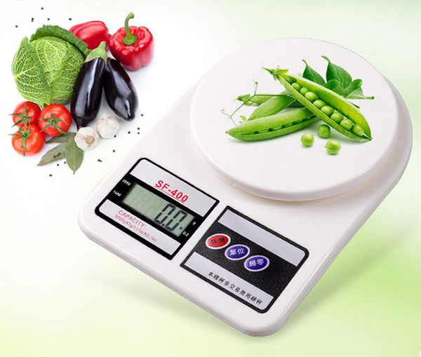 【SF400】1kg 冷光螢幕中文按鍵1公斤電子秤烘焙食品秤拍賣秤信件秤中藥秤公克g盎司(0.1g/1kg)