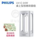 加送200元超商禮券『PHILIPS 桌上型UV-C 24W 殺菌燈』飛利浦照明【購知足】