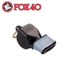 【Fox 40 軟膠口哨子Fox 40 classic《黑色》】9603-0008/高音哨/求生哨/訓練哨