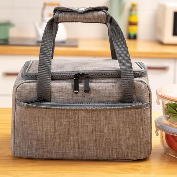 保溫桶保溫袋手提包加厚鋁箔保溫包便當包午餐袋子圓形手拎媽咪包 夢幻小鎮