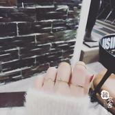 水鉆波浪時尚個性5件套戒指套裝指環食指關節戒尾戒【韓衣舍】