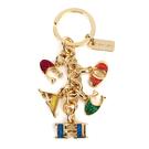 COACH 五彩字母鑰匙圈吊飾(金色)198388-3