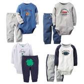 寶寶長袖套裝 純棉包屁衣+ 嬰兒長褲 LZ8915 好娃娃