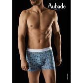 Aubade man-壞男人M-XL舒棉平口褲(阿茲勒赫彩磚)