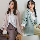 MIUSTAR 超難找的亮彩單釦西裝外套(共4色)【NJ0505】預購