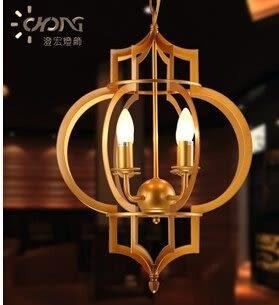 設計師美術精品館美式鄉村複古燈籠吊燈北歐宜家餐廳門廳臥室燈具燈飾