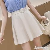 百褶裙 a字半身裙女夏 2020年夏季新款蓬蓬百褶裙子高腰顯瘦黑色雪紡短裙
