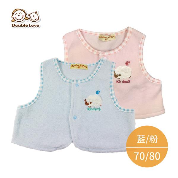 秋冬 保暖 背心 寶寶馬甲 新生兒服 寶寶服 童裝 小羊 70-80 外套 無袖 【HF0010】