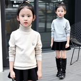 兒童毛衣女 女童高領毛衣正韓新款秋季中大童打底加絨【免運直出】