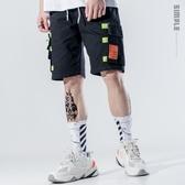 新春新品▷ 工裝短褲男 寬松迷彩休閑五分褲 嘻哈街頭直筒褲子 ☸mousika