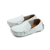懶人鞋 豆豆鞋 休閒鞋 童鞋 白色 中童 P-981-03 no237