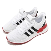adidas 休閒鞋 U_Path Run 白 紅 黑 男鞋 女鞋 襪套式 運動鞋【ACS】 FX0104
