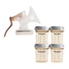 【12月限定組合】新加坡 hegen 優雅輕柔手動集乳器+150萬用瓶4入