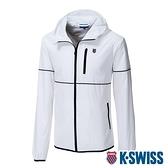 K-SWISS Color Trims Jacket抗UV防風外套-女-白