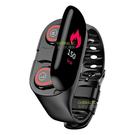 智慧手環+雙耳藍芽耳機 藍芽5.0 觸控彩色螢幕 可分離 來電提醒 接聽 心率 里程 記步 卡路里 鬧鐘
