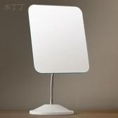 化妝鏡台式簡約大號歐式公主鏡創意單面鏡子書桌宿舍抖音梳妝鏡【免運】