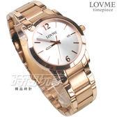 LOVME 簡約數字風格品味 藍寶石抗磨水晶玻璃 不銹鋼帶 男錶 玫瑰金電鍍 日期顯示窗 VS3190M-44-241