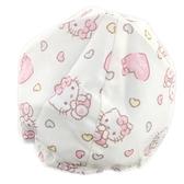 小禮堂 Hello Kitty 安全帽內襯 安全帽墊 帽套 (米 愛心) 4712977-46622