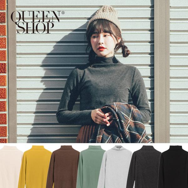 Queen Shop【01096468】立領磨毛百搭上衣 七色售*現+預*