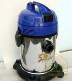 [ 家事達 ] 台灣SANCOS-3563w 工業用乾溼吹三用靜音不鏽鋼吸塵器
