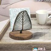 收納櫃 實木紙巾架托廚房桌面立式餐巾紙收納復古西餐紙巾座餐桌紙巾夾 8號店