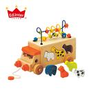 ED Inter 日本 木玩具系列-動物巴士手拉車