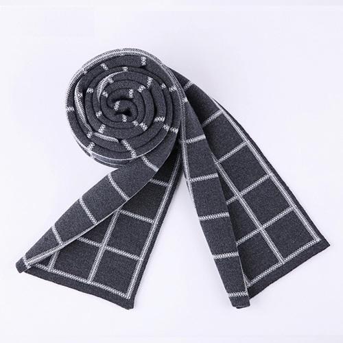 針織圍巾-格子經典提花羊毛男披肩3色73wi16[時尚巴黎]