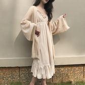 防曬開衫外套女冰絲針織衫毛衣夏薄女寬鬆中長款外披肩空調慵懶風 韓幕精品