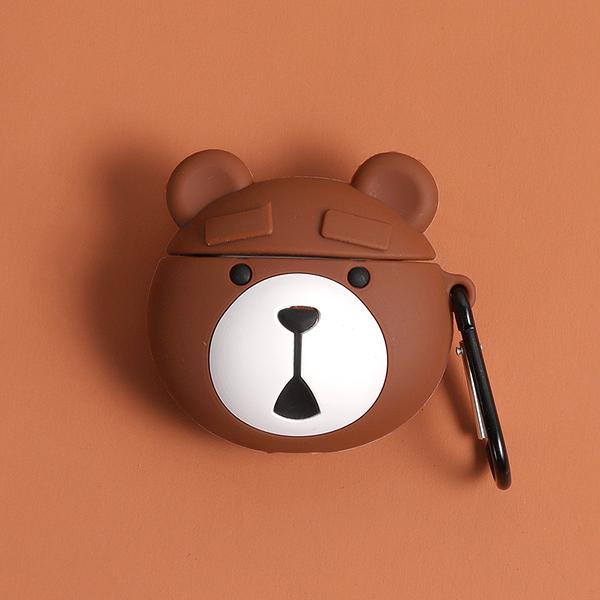 即將現貨 台灣發貨? Airpods2 藍芽耳機保護套 蘋果無線耳機保護套 焦黑的熊麻吉