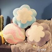 糖果花瓣午睡小枕頭汽車載抱枕被子兩用珊瑚絨毯子三合一 【快速出貨】