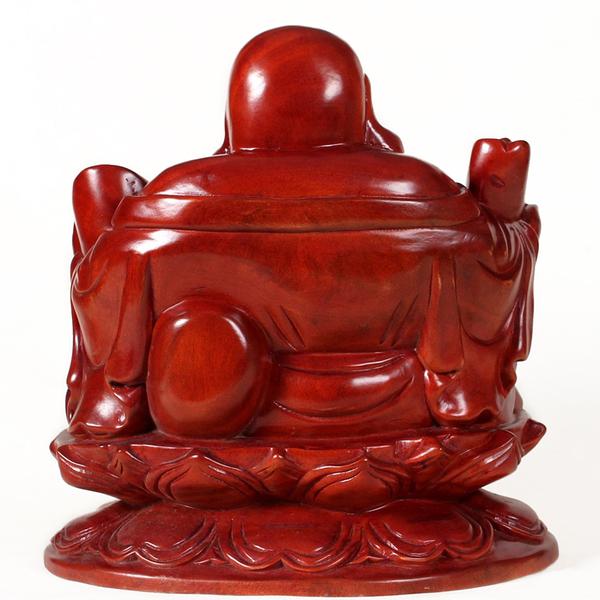 [超豐國際]V雅軒齋 木雕佛像 紅木工藝品 如意元寶彌勒佛擺1入